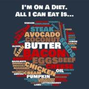I'm on a Diet - Print Navy