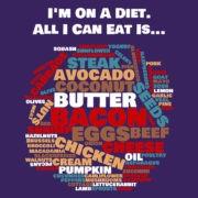 I'm on a Diet - Print Purple
