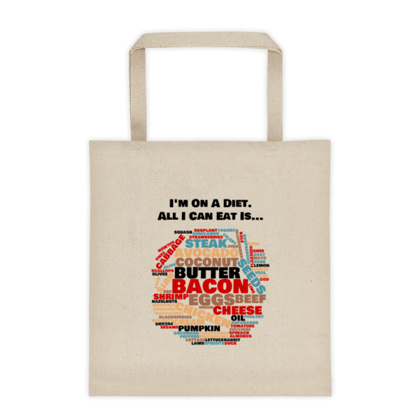 I'm On a Diet Shopping Tote Bag